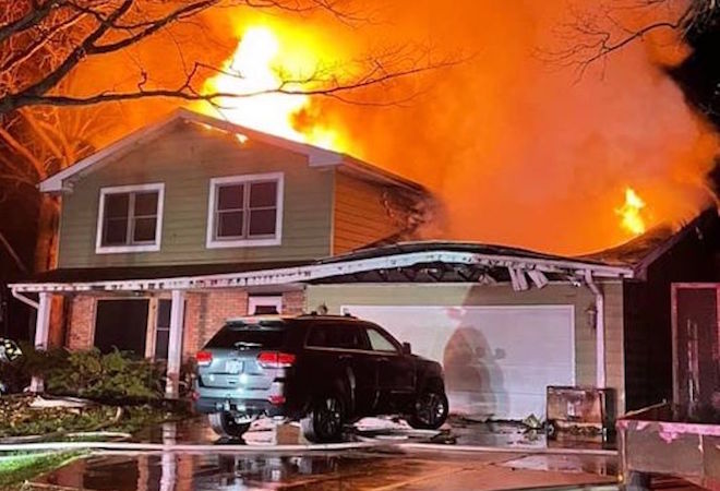 Homeowner escapes early morning blaze